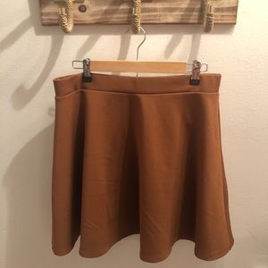Brown Forever 21+ Skater Skirt